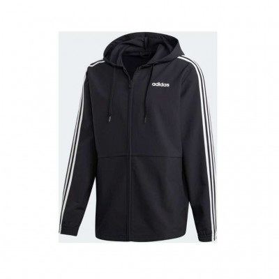 ADIDAS ESSENTIALS 3 STRIPES WOVEN WINDBREAKER DQ3066 ΜΑΥΡΟ