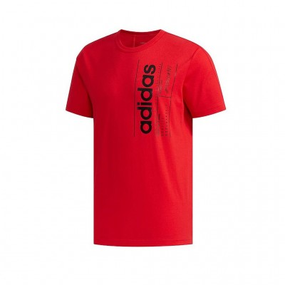 ADIDAS BRILLIANT BASICS TEE FM6093 ΚΟΚΚΙΝΟ