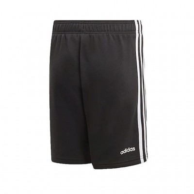 ADIDAS ESSENTIALS 3 STRIPES KNIT SHORTS DV1796 ΜΑΥΡΟ