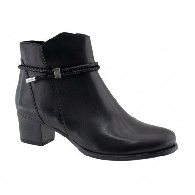 CAPRICE LEATHER BOOT 9 25307 25 019 ΜΑΥΡΟ