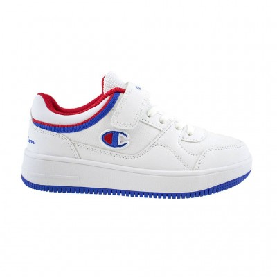 CHAMPION LOW CUT SHOE NEW REBOUND S31967 WW001 ΛΕΥΚΟ ΜΠΛΕ ΚΟΚΚΙΝΟ