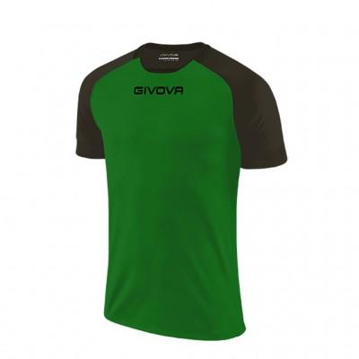 GIVOVA SHIRT CAPO MC MAC03 1310 GREEN BLACK