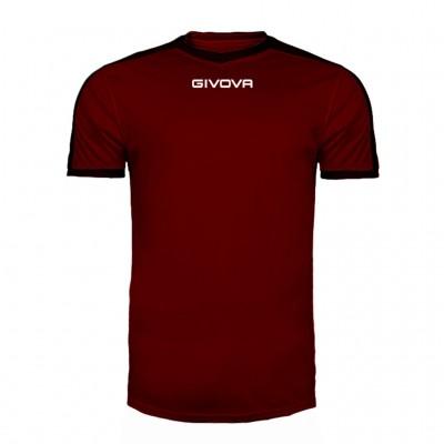 GIVOVA SHIRT REVOLUTION MAC04 0810 BORDEAUX BLACK