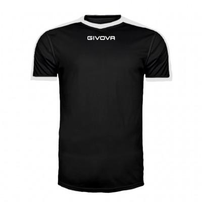 GIVOVA SHIRT REVOLUTION MAC04 1003 BLACK WHITE