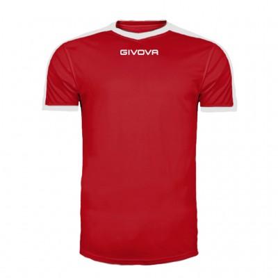 GIVOVA SHIRT REVOLUTION MAC04 1203 RED WHITE