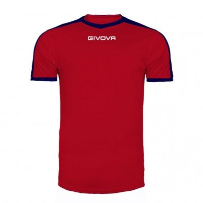 GIVOVA SHIRT REVOLUTION MAC04 1204 RED BLUE