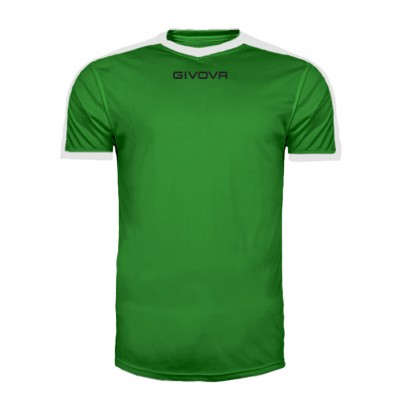 GIVOVA SHIRT REVOLUTION MAC04 1303 GREEN WHITE