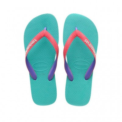 HAVAIANAS MIX LAKE GREEN FLAMINGO 4115549-7936 ΠΡΑΣΙΝΟ ΜΠΛΕ