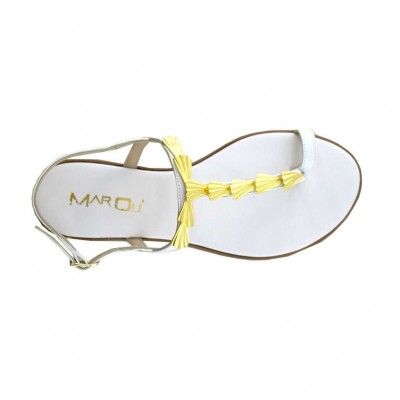 MAROLI SANDAL LEATHER 20698 ΛΕΥΚΟ
