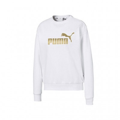 PUMA ESSENTIAL METALLIC SWEAT TR 582408 02 ΛΕΥΚΟ