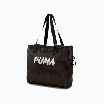 PUMA CORE BASE LARGE SHOPPER 077377 01 ΜΑΥΡΟ ΑΣΗΜΙ
