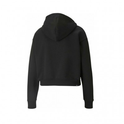 PUMA ESS+EMBROIDERED CROPPED HOODIE 587902 01 ΜΑΥΡΟ