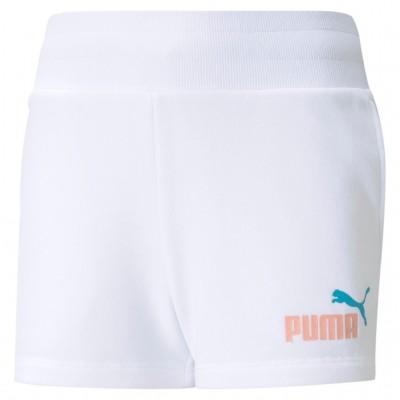 PUMA SHORTS KIDS 587052 02 WHITE