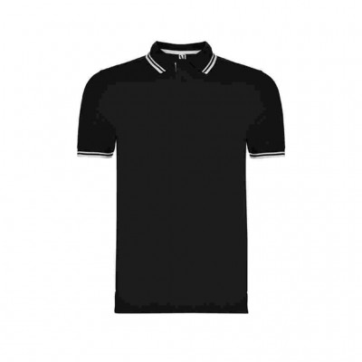 ROLY T SHIRT POLO MONTREAL PO6629 0201 ΜΑΥΡΟ ΛΕΥΚΟ