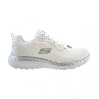 SKECHERS MESH LACE UP 12606 WSL ΛΕΥΚΟ ΑΣΗΜΙ