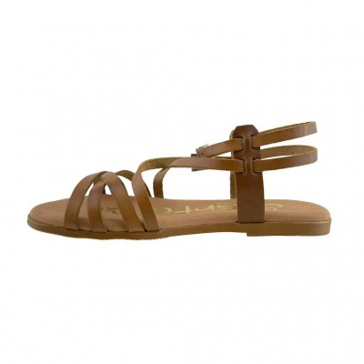 SPARTANAS LEATHER SANDALS 4542 ΤΑΜΠΑ