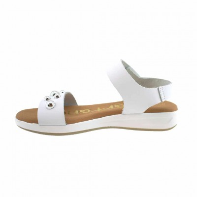 SPARTANAS LEATHER SANDALS 4563 ΛΕΥΚΟ