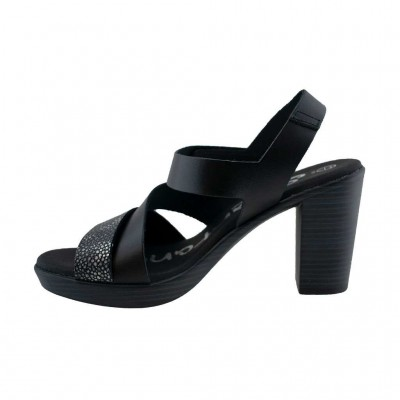 SPARTANAS LEATHER SANDALS 4568 ΜΑΥΡΟ
