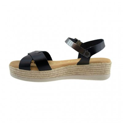SPARTANAS LEATHER SANDALS 4609 ΜΑΥΡΟ