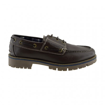 TOMMY HILFIGER LEATHER SHOE FW0FW01744 212 BROWN