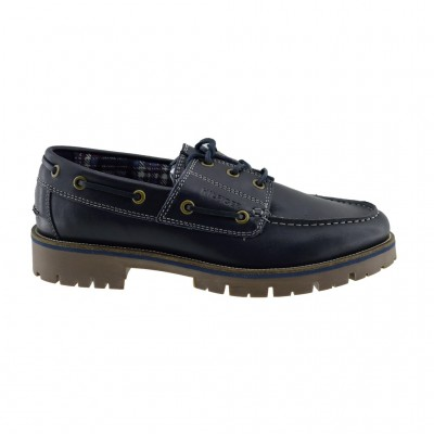 TOMMY HILFIGER LEATHER SHOE FW0FW01744 403 BLUE
