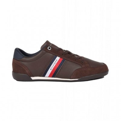 TOMMY HILFIGER CORPORATE MATERIAL MIX LEATHER FM0FM03741GT6 ΚΑΦΕ