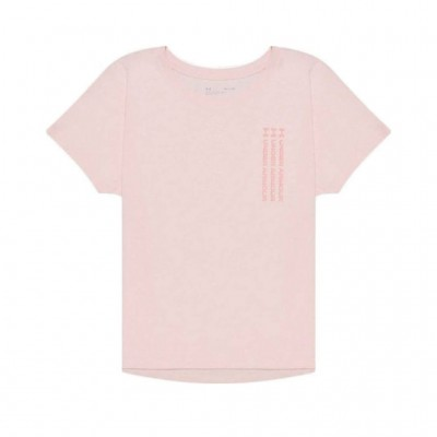 UNDER ARMOUR T SHIRT LIVE REPEAT 1365777 685 PINK