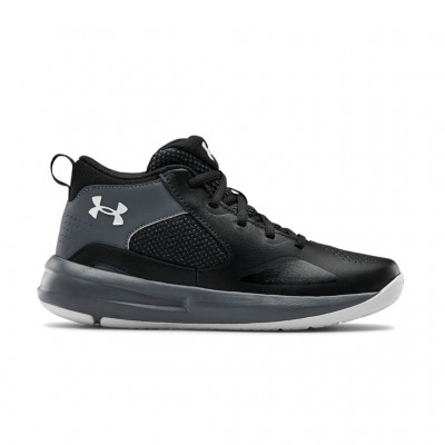 UNDER ARMOUR GS LOCKDOWN 5 3023533 001 ΜΑΥΡΟ ΓΚΡΙ