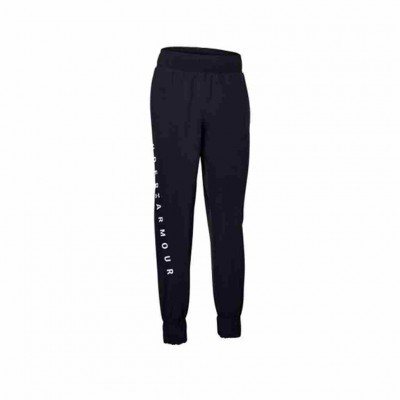 UNDER ARMOUR WOMENS WOVEN BRANDED PANTS 1351883-001 ΜΑΥΡΟ