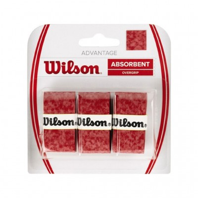 WILSON ADVANTAGE OVERGRIPS WRZ4033RD RED