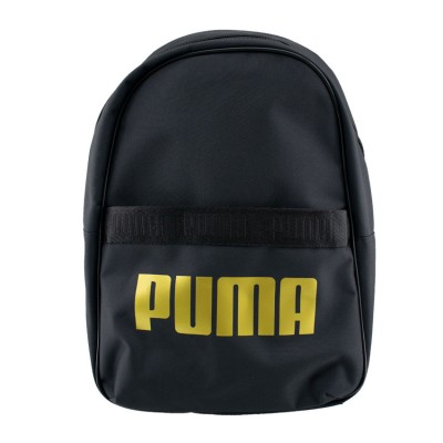 PUMA CORE BASE BACKPACK 076944 01 ΜΑΥΡΟ ΧΡΥΣΟ