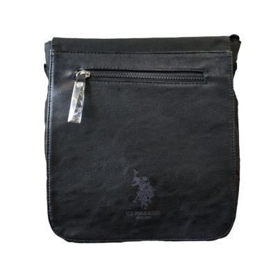 US POLO BAG PU MENS 023 06 ΜΑΥΡΟ
