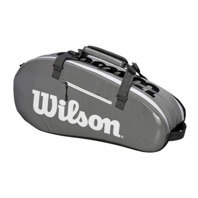 WILSON SUPER TOUR 2 COMPARTMENTS SMALL BAGS WRZ843906 BLACK WHITE