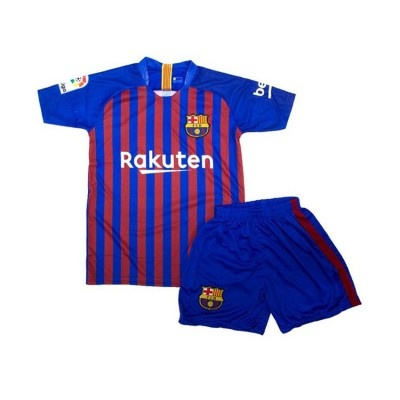 SOCKER TEAM SET BARCELONA JUNIOR MESSI ΜΠΛΕ ΚΟΚΚΙΝΟ