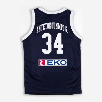 GSA HELLAS GAME SHIRT 34 ANTETOKOUNMPO KID 1793065 017 ΜΠΛΕ