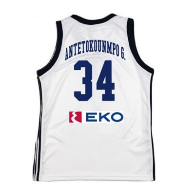 GSA HELLAS GAME SHIRT 34 ANTETOKOUNMPO KID 1793065-001 ΛΕΥΚΟ