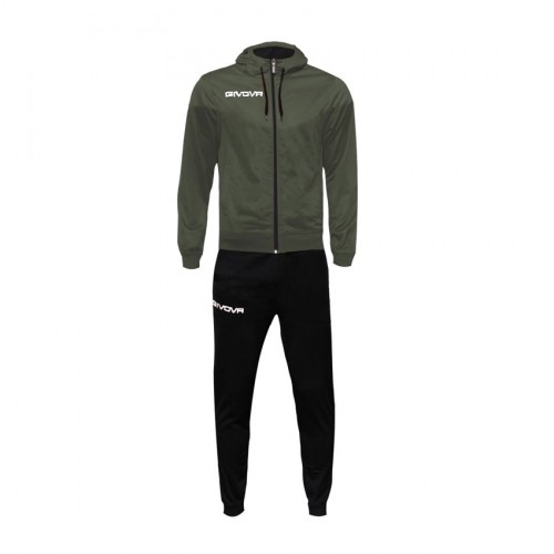 GIVOVA TRAINING TUTA MILANO POLARFLEECE TR029 DARK GREY BLACK