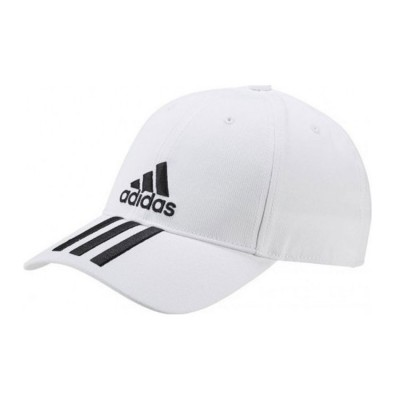 ADIDAS SIX PANEL CLASSIC 3 STRIPES CAP DU0197 ΛΕΥΚΟ ΜΑΥΡΟ