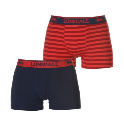 BOXER LONSDALE 2/PACK 422011 84 ΜΠΛΕ ΚΟΚΚΙΝΟ