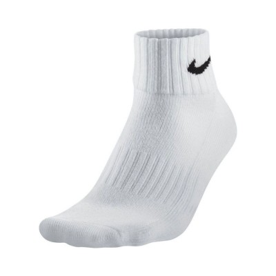 NIKE CUSHION QUARTER SOCKS 3 PAIRS SX4926 101 ΛΕΥΚΟ