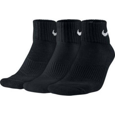 NIKE 3PPK CUSHION QUARTER SX4703 001 ΜΑΥΡΟ