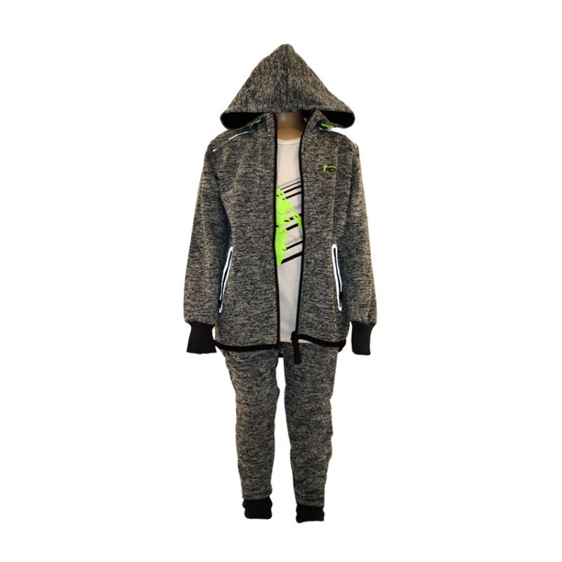 LI NING TRACKSUIT 3 TEM (PIECES) BOYS A 821 GREY GREEN