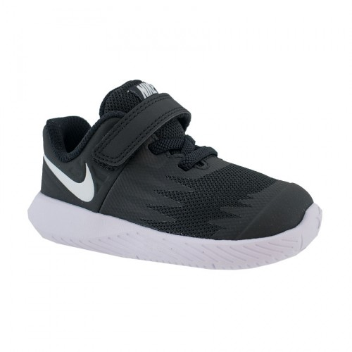 NIKE STAR RUNNER TDV 907255 001 BLACK WHITE