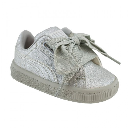 PUMA BASKET HEART HOLIDAY GLAMOUR 367632 03 SILVER