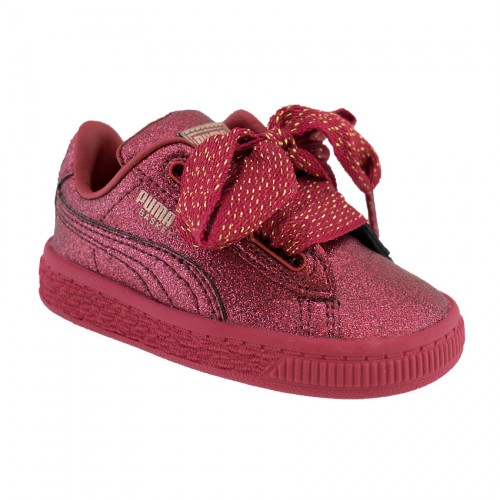 PUMA BASKET HEART HOLIDAY GLAMOUR 367632 01 RED
