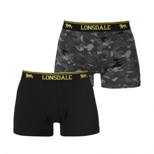 BOXER LONSDALE 2 PACK 422011 87 BLACK ARMY