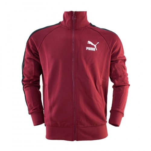 PUMA ICONIC T7 TRACK JACKET 595286 27 BORDEAUX BLACK