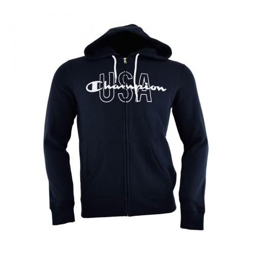 CHAMPION SWEATSHIRT ZIP HOOD 211591 BLUE