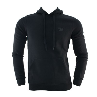 UMBRO HOODED SWEAT 62791E 0071 ΜΑΥΡΟ