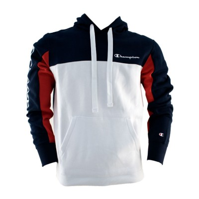 CHAMPION SWEATSHIRT HOODED 213408 BS501 ΜΠΛΕ ΛΕΥΚΟ